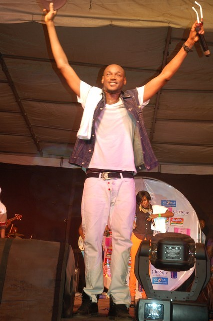 Tuface salutes the crowd