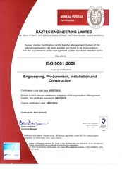 Kaztec Engineering Limited Earns ISO 9001: 2008