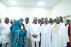 Sir Dr. Emeka Offor Inspects Waziri Alhassan Public Library in Daura