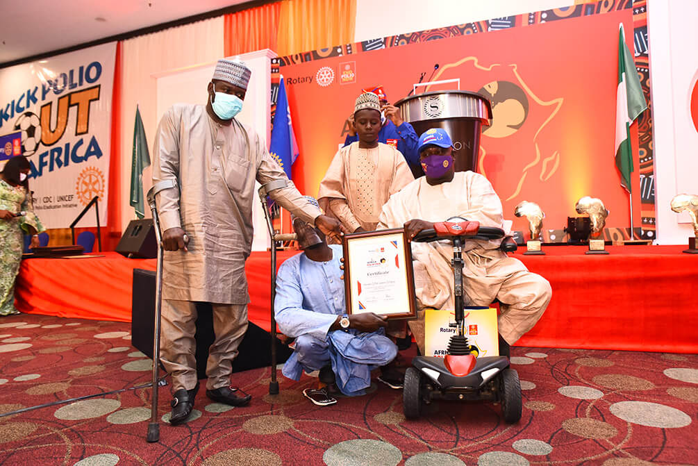 Rotary Awards Sir Offor at Africa Polio Free Certification Celebration