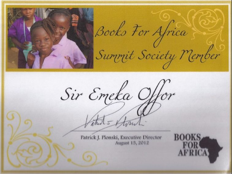 Books for Africa Letter to Sir Emeka Offor