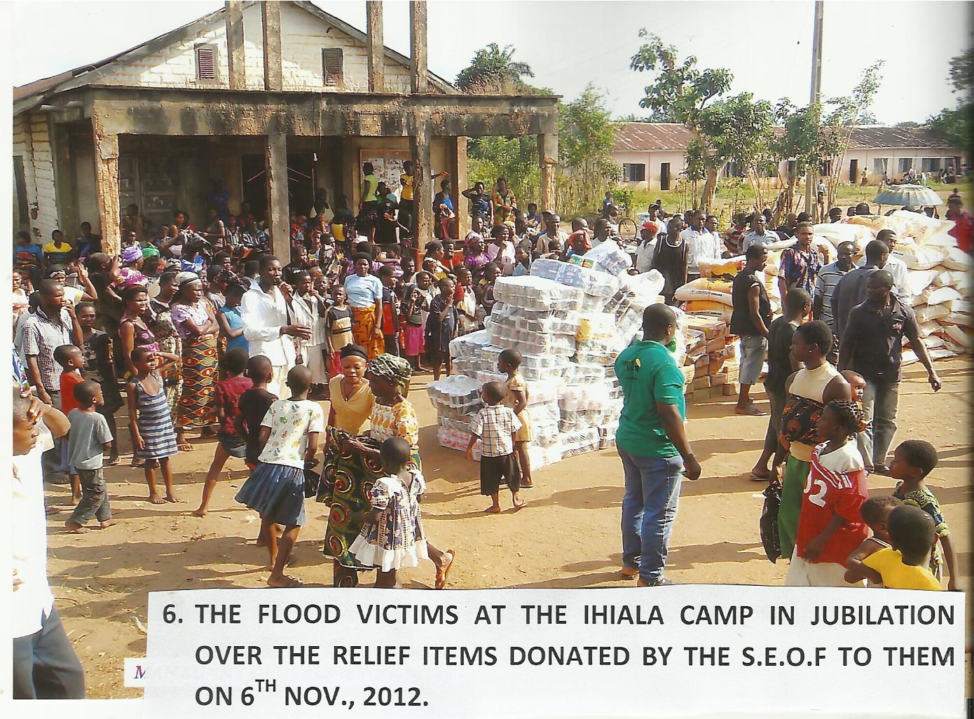 Visit to the Flood Displaced Victims Camp at Umudara Ihiala L.G.A.