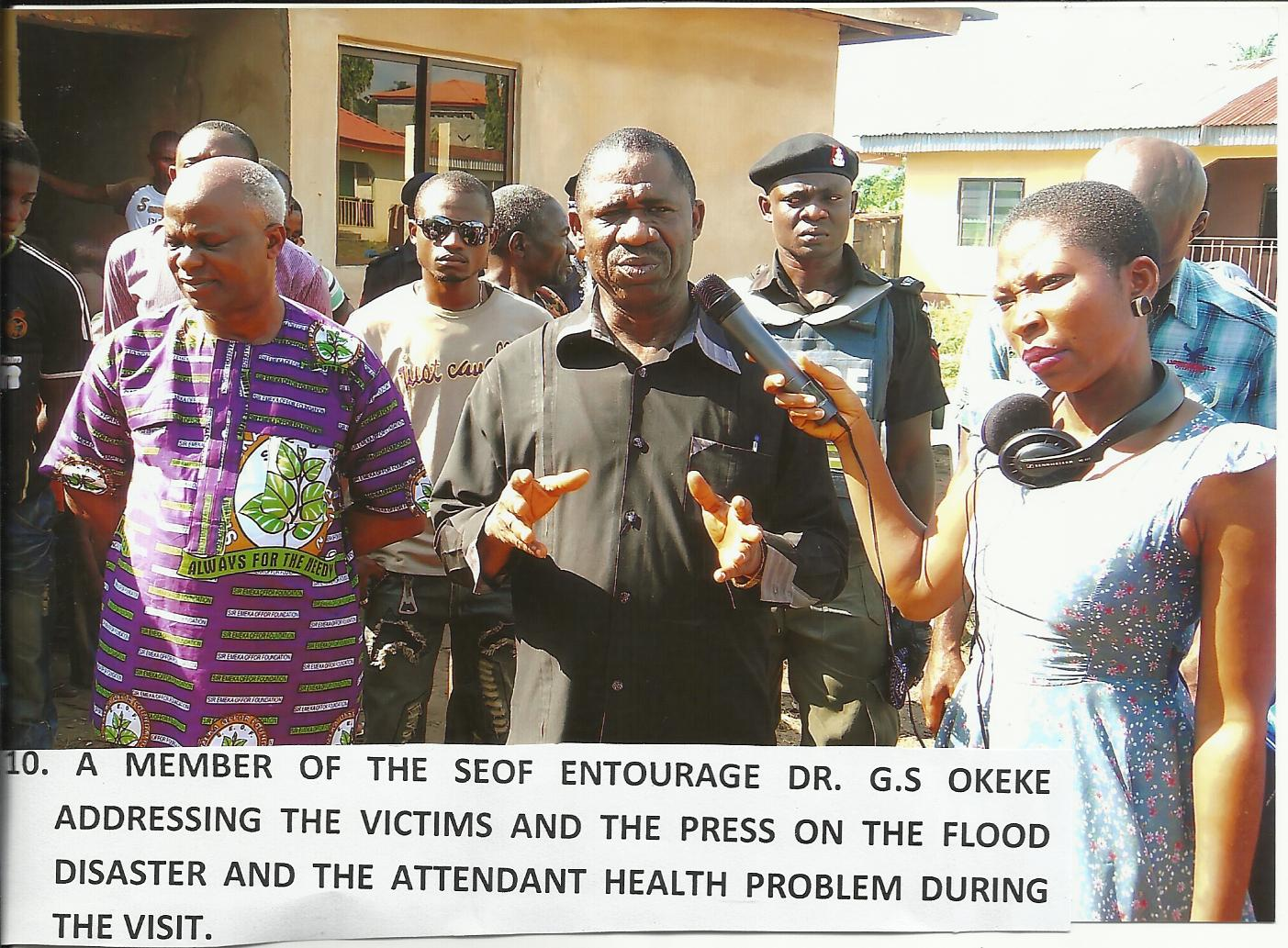 Visit to the Flood Displaced Victims at Ozubulu Ekwusigo L.G.A. Secretariat