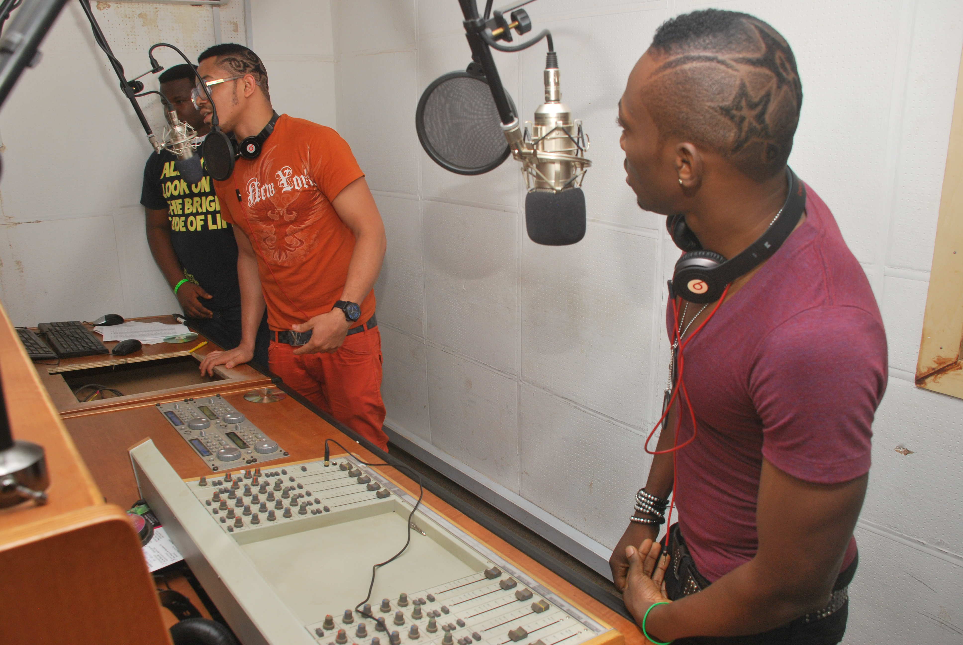 Bracket in Blaze FM live studio
