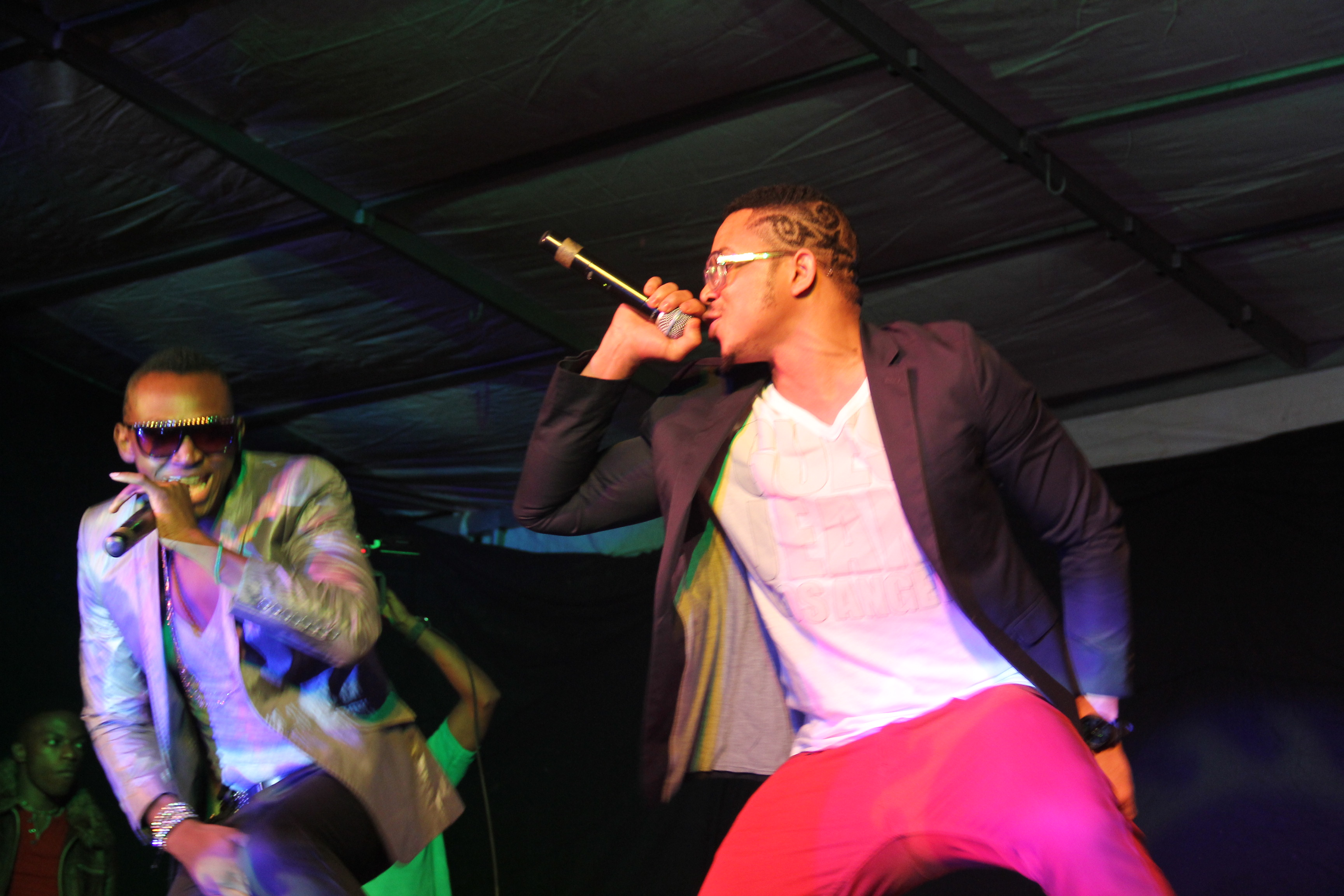 Bracket performing on stage