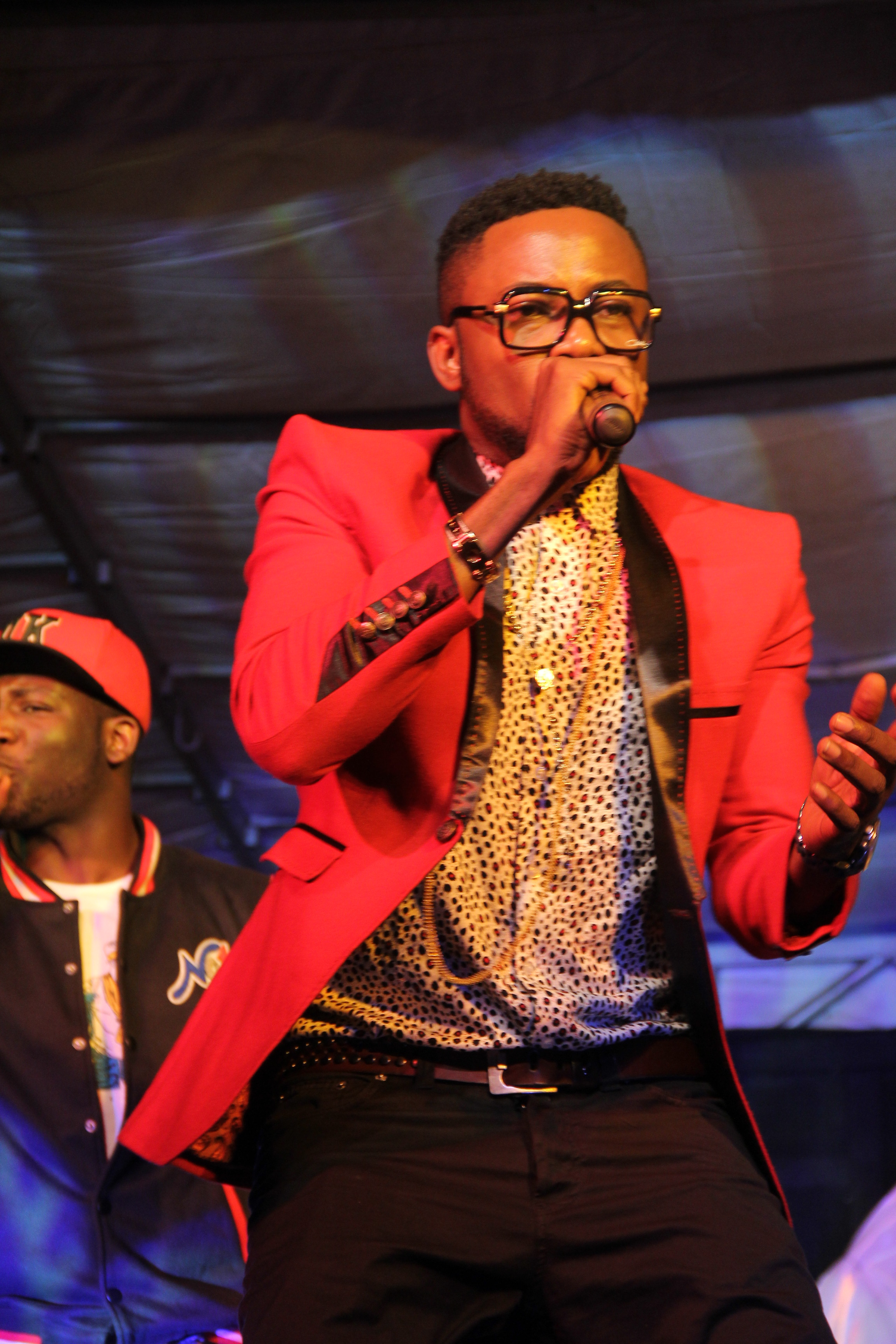 Wizboy performing on stage