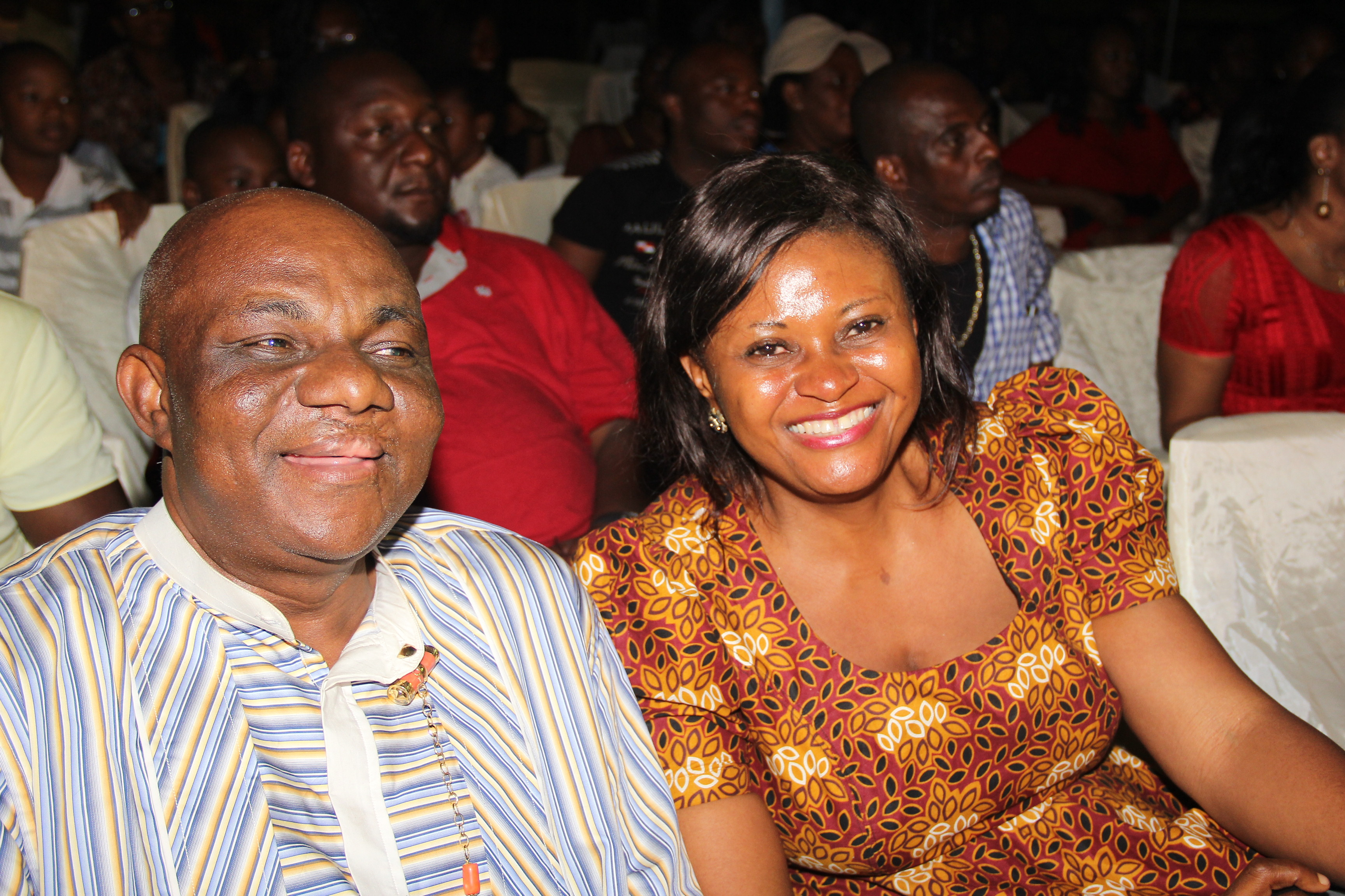 Group Admin Manager of Chrome Group, Mr Inno Anoliefo and wife
