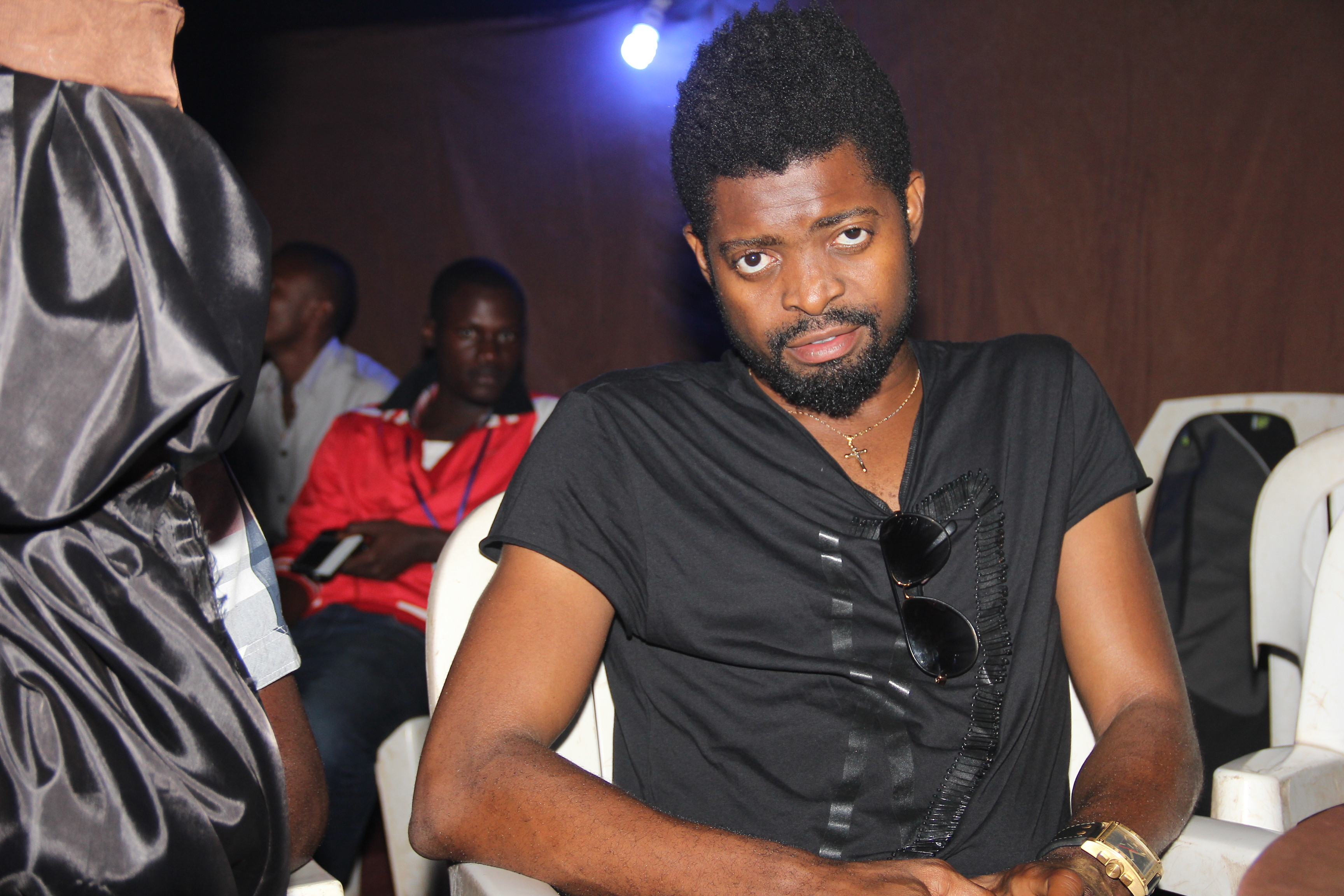 Comedian, Basketmouth backstage at the blaze blast