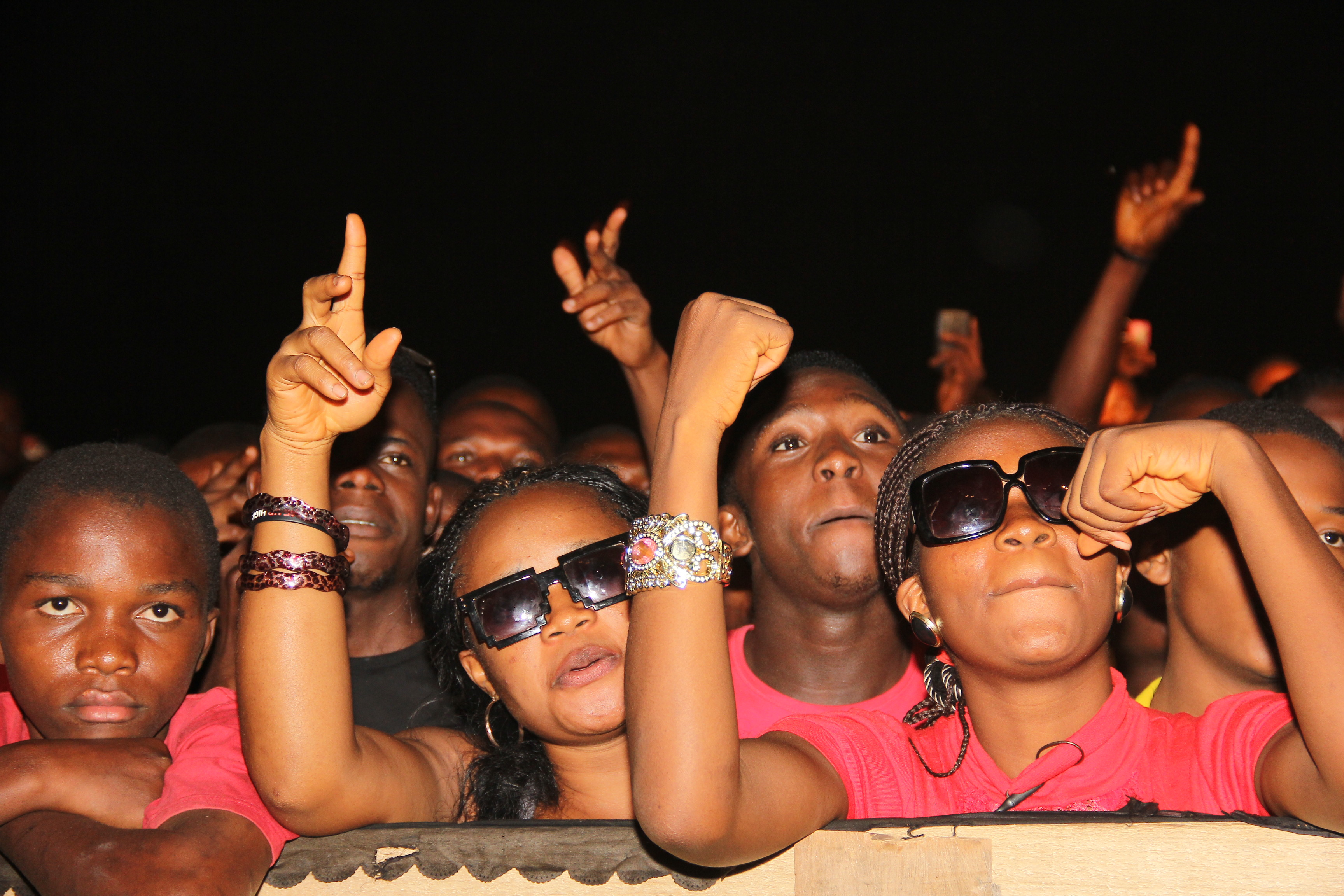 Fans in hysterical mood at the Blaze concert