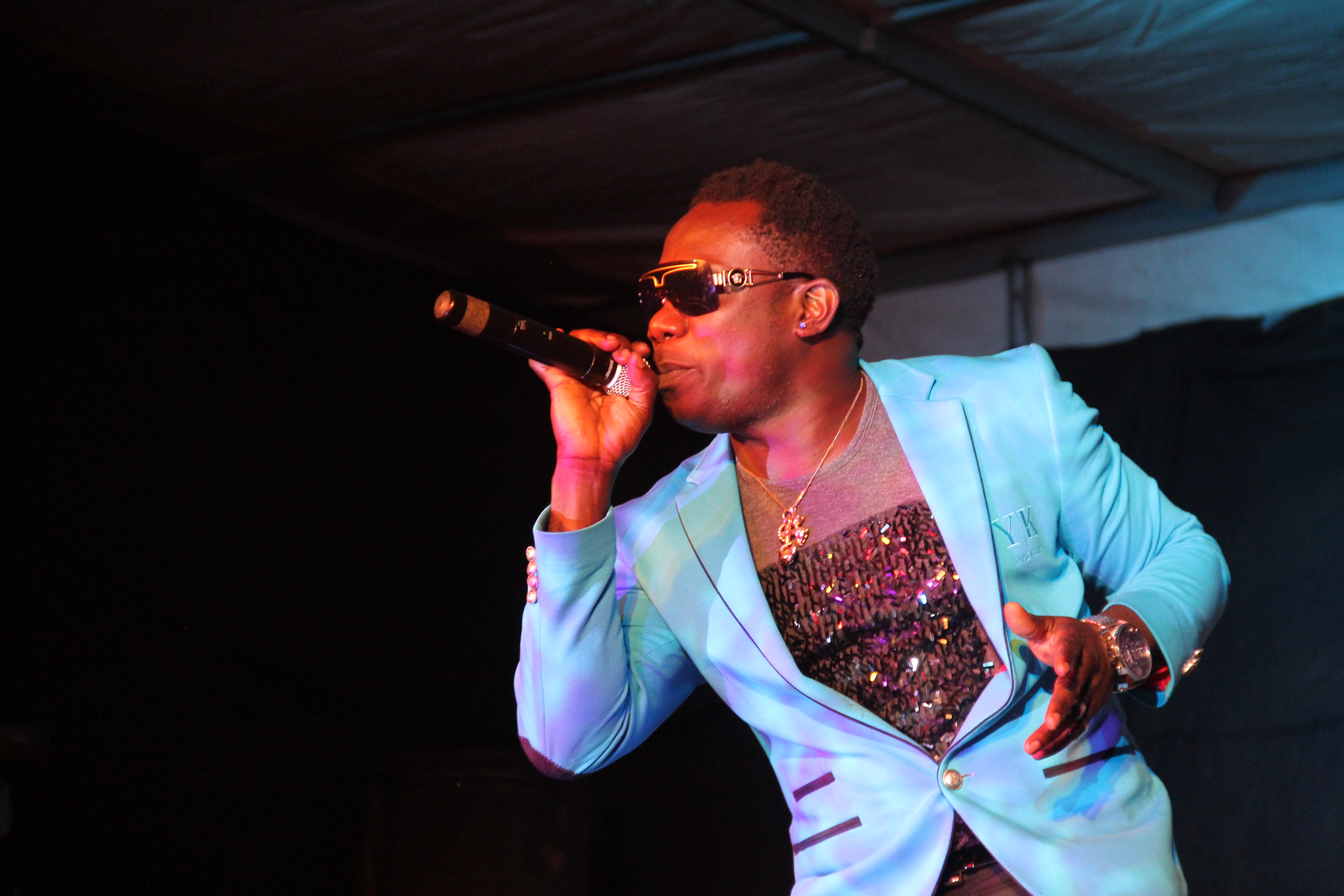 Duncan mighty performing on stage
