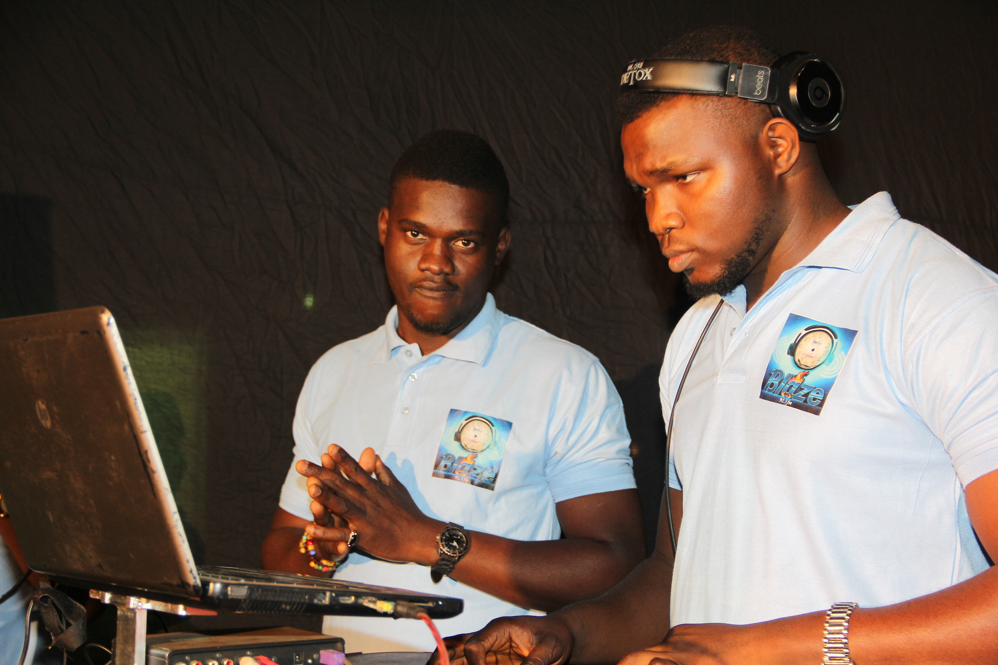 Ugo Daniells and DJ Don of Blaze FM