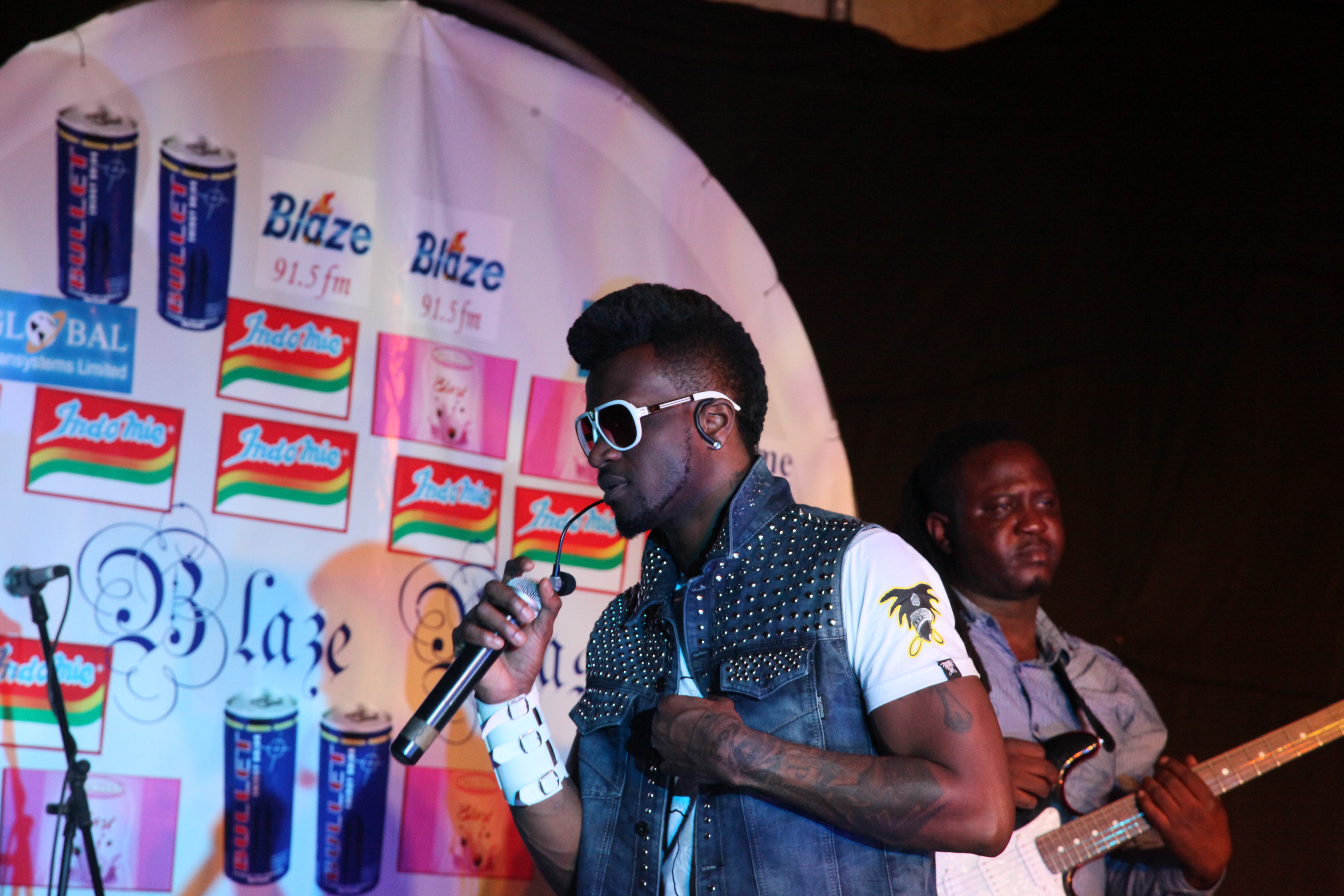 Peter of Psquare on stage at the Blaze Blast concert