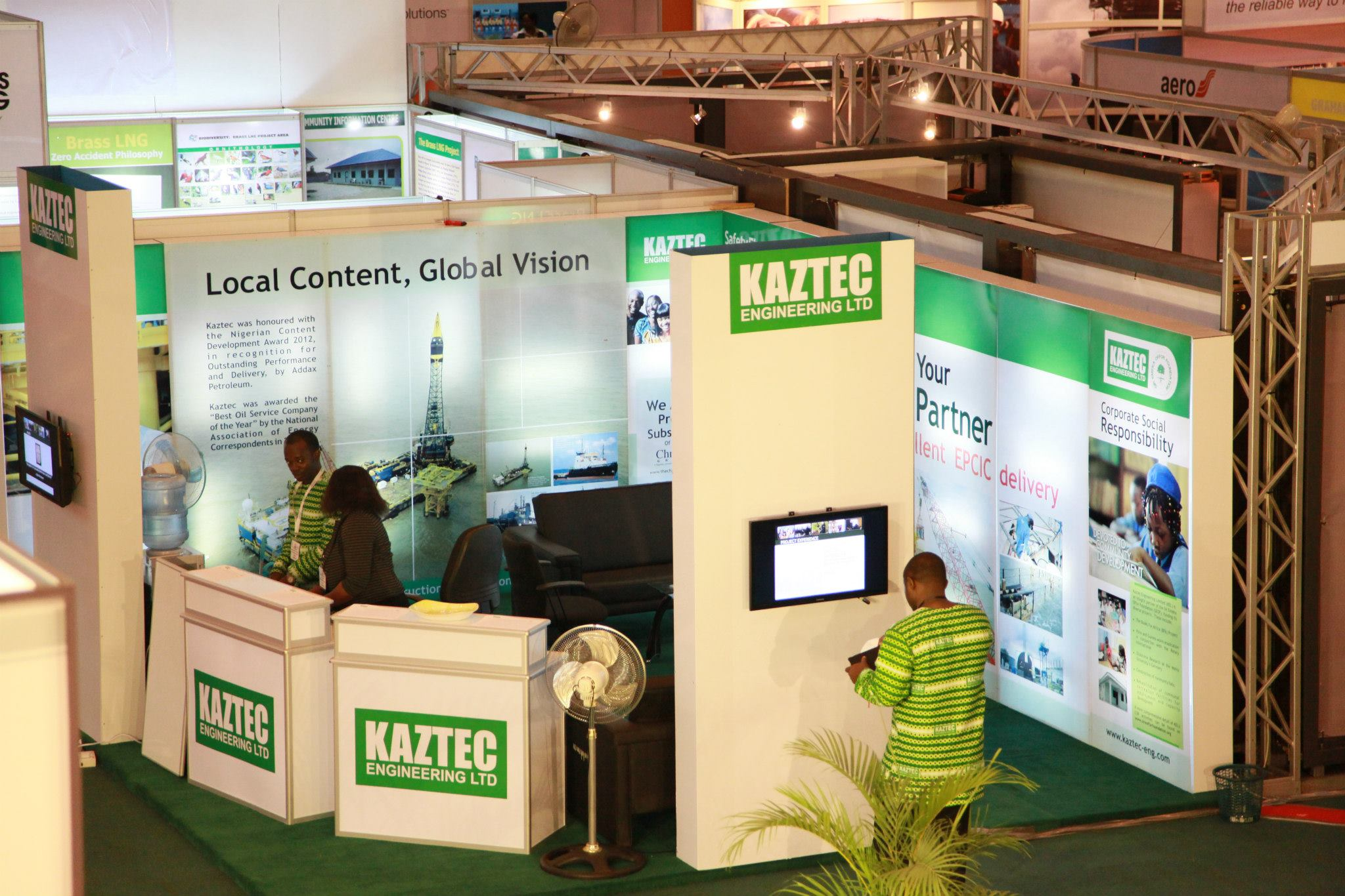 The Kaztec Booth