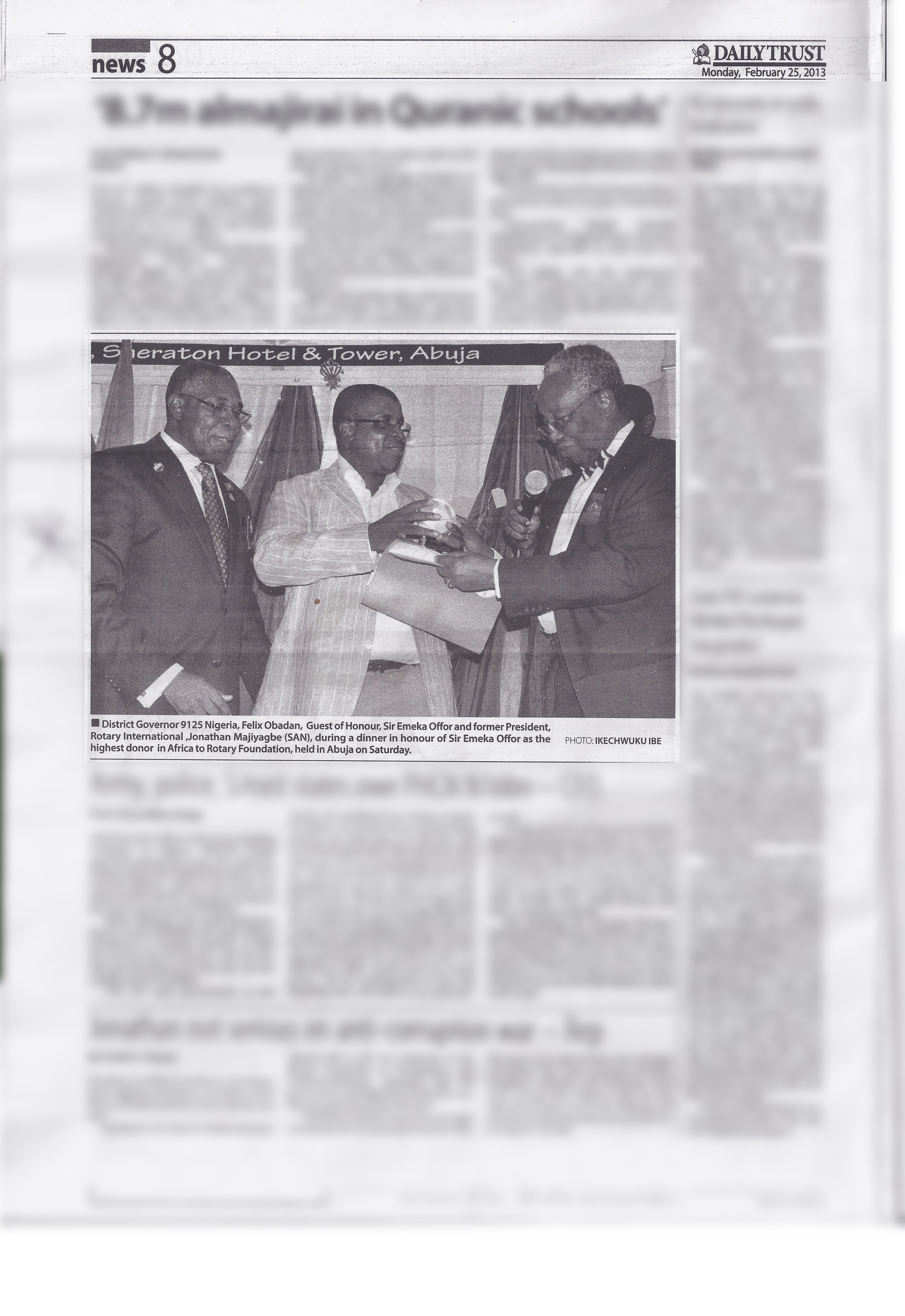 The Daily Trust, February 25, 2013