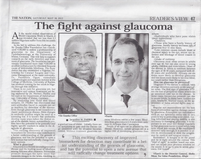 The Nation - The fight against glaucoma