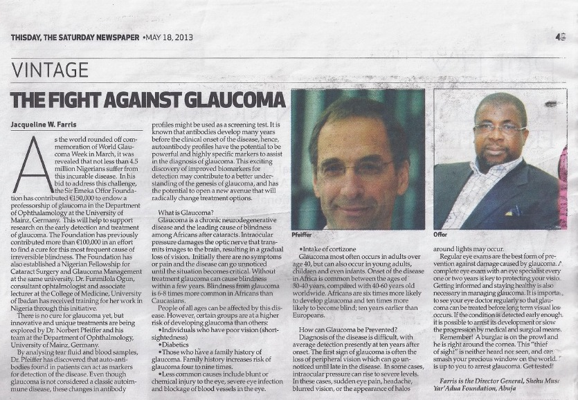 ThisDay - The Fight Against Glaucoma