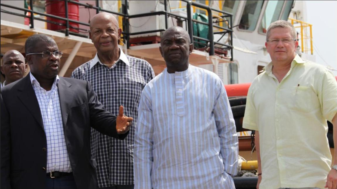Kaztec Chairman Sir Emeka Offor, Dan Nicholson, Ike Opkala, Gene Williams all of Kaztec