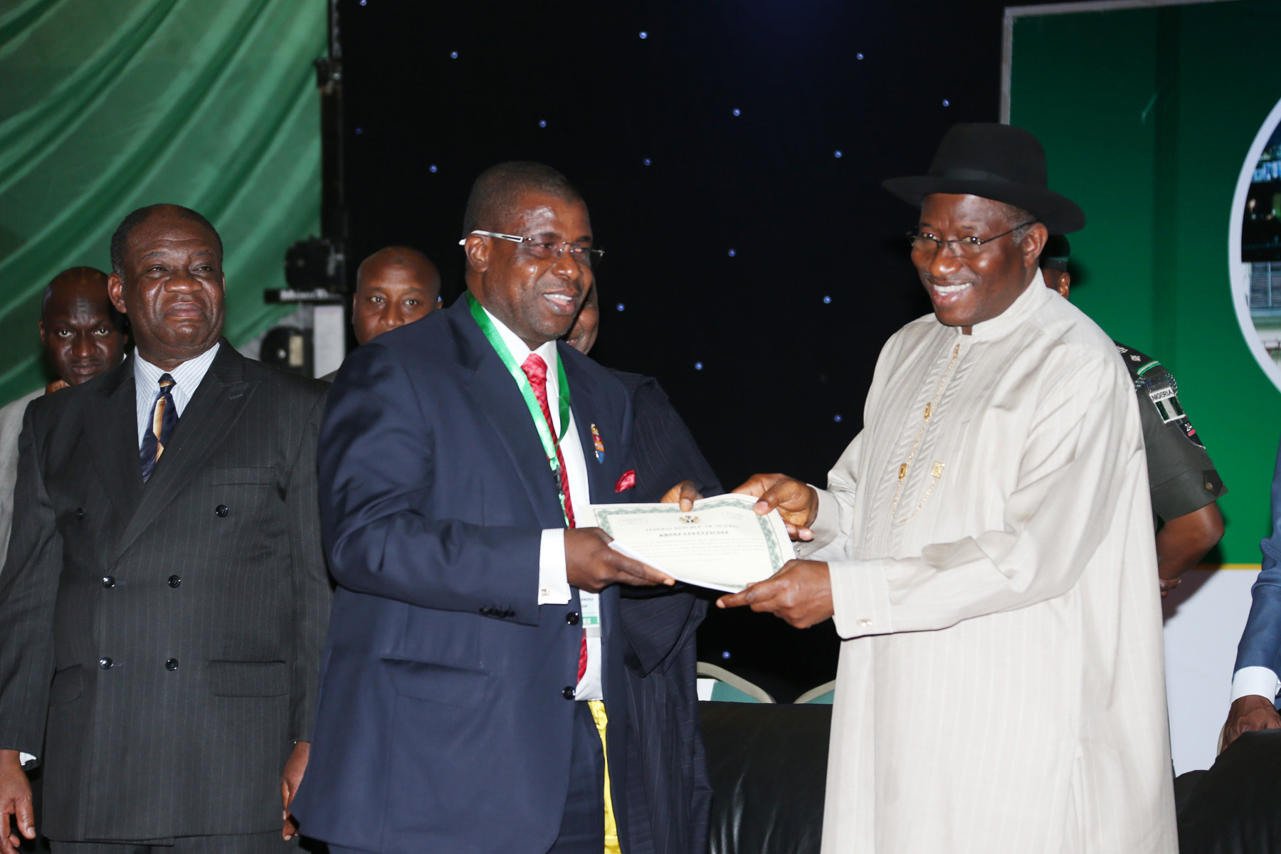 Formal Handover of Share Certificates and Licenses to New Core Owners of PHCN Successor Companies