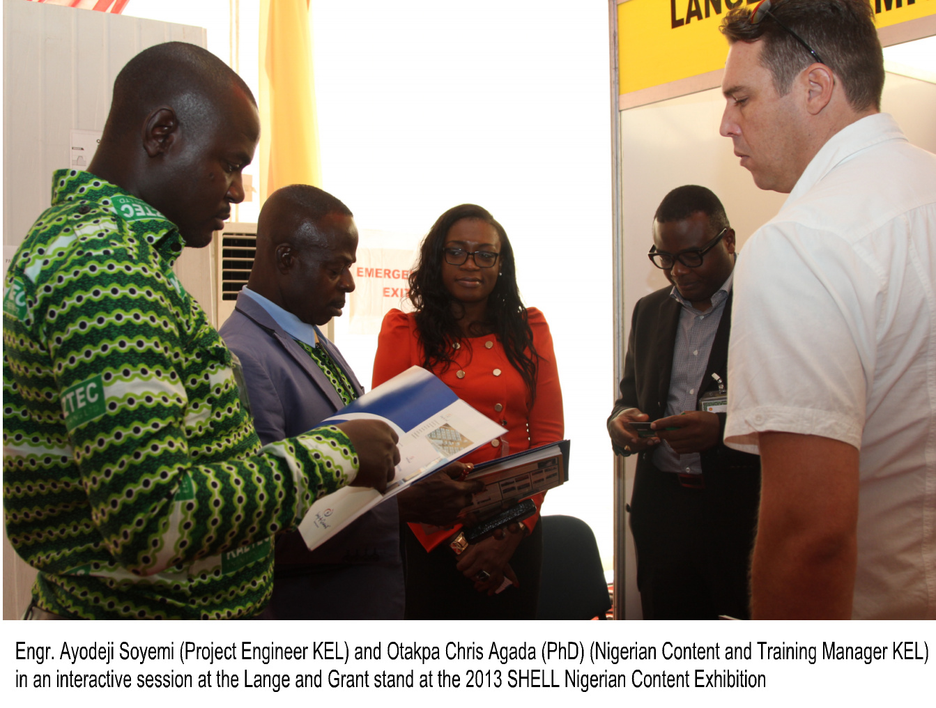An Interactive session at the 2013 SHELL Nigerian Content Exhibition