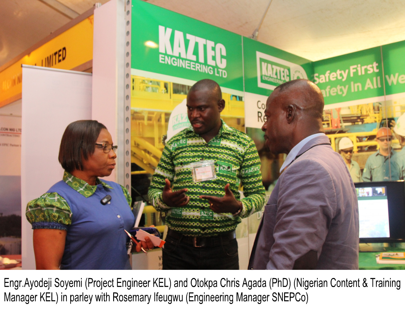 At the Kaztec Engineering Limited Booth