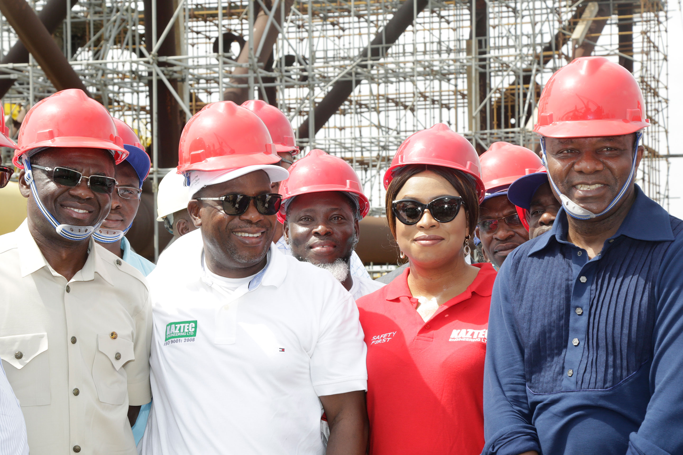 Vice President Prof. Osinbajo Visits Kaztec Fabrication Yard in Lagos